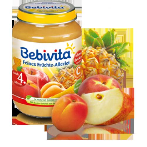 Bebivita Бебешко пюре Различни плодове 190 гр.